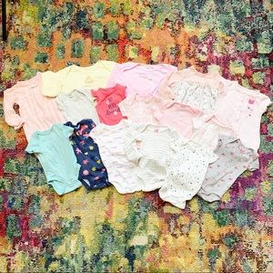 Newborn Lot of 16 Onesies, Gowns and Sleeper